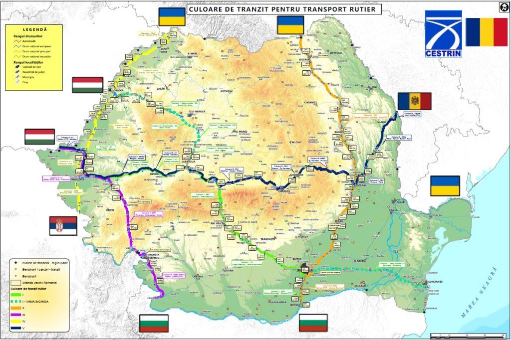 Romániai tranzit folyosók