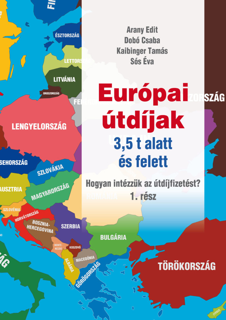 Európai útdíjak kiadvány borítója